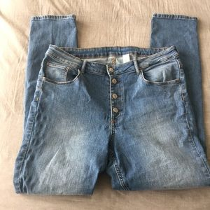 H&M Stretch Button Fly Jeans Size 36 (Women's 16)